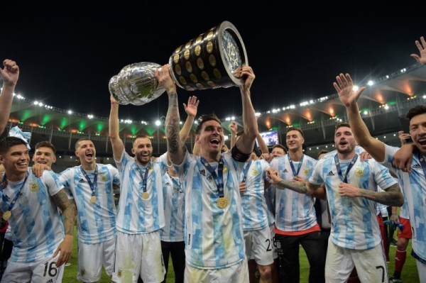 Lionel Messi ended his wait for a first major international title as Argentina beat Brazil in the Copa America final in Rio's Maracana stadium. (Credit: @CopaAmerica)