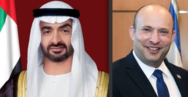 Crown Prince of Abu Dhabi Sheikh Mohamed Bin Zayed, left, and Israel's Prime Minister Naftali Bennett are seen in this file combination picture. — Courtesy photo