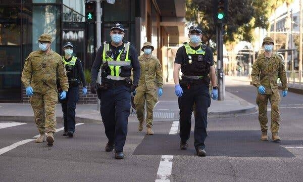 Thousands of people took to the streets of cities in Australia on Saturday to protest against lockdown restrictions, amid a surge in coronavirus cases. — Courtesy photo