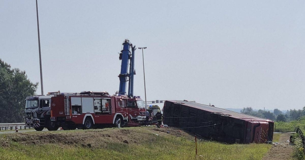 A bus swerved off a highway and crashed in Croatia early Sunday after the driver apparently fell asleep, killing 10 people and injuring at least 44 others — some of them seriously, authorities said. — Courtesy photo