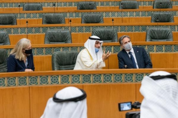 Kuwait's Emir Sheikh Nawaf Al-Ahmad Al-Jaber Al-Sabah met here on Thursday with visiting US Secretary of State Antony Blinken and the delegation accompanying him. — KUNA photo