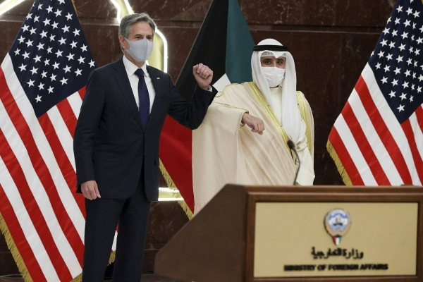Kuwait's Foreign Minister Sheikh Dr. Ahmad Nasser Al-Mohammad Al-Sabah, who is also the country's Minister of State for Cabinet Affairs held talks here on Thursday with US Secretary of State Antony Blinken. — Courtesy photo