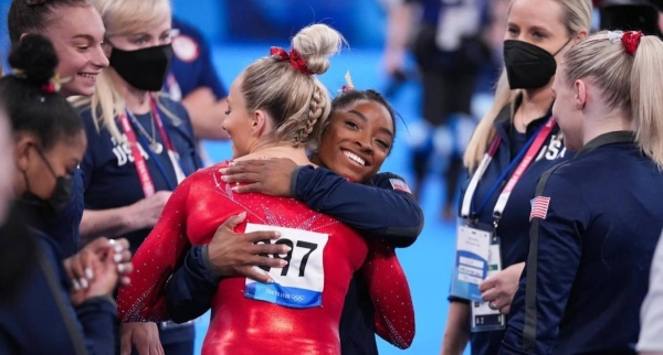 USA Gymnastics announced that she would not participate in the women's all-around final. (Credit: Twitter @Simone_Biles)