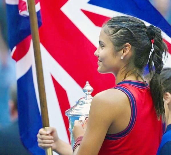Britain's Emma Raducanu savors the US Open title victory on Saturday,