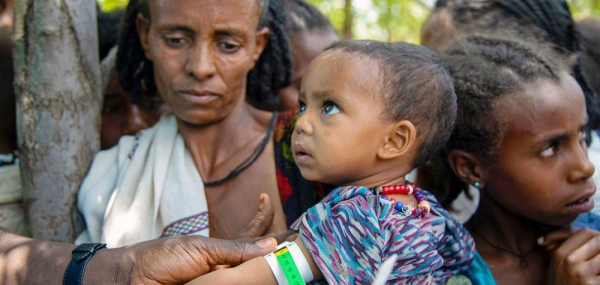 A child is screened for malnutrition in Adikeh in Wajirat in Tigray, Ethiopia. — courtesy UNICEF/Christine Nesbitt