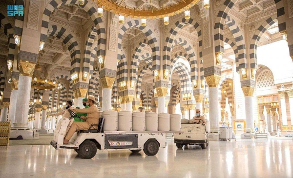Zamzam containers return to Prophet's Mosque after a hiatus of over one and a half years
