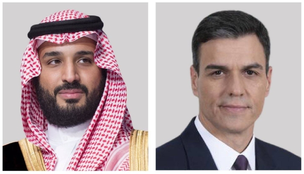 Crown Prince receives phone call from Spain's PM