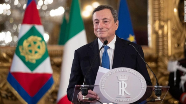 File picture of Italy's Prime Minister Mario Draghi.