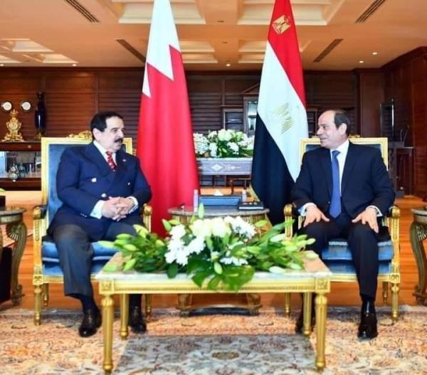 Egyptian President Abdel-Fattah El-Sisi met with Bahraini King Hamad bin Isa Al Khalifa in the Red Sea resort city of Sharm el-Sheikh. — Courtesy photo.