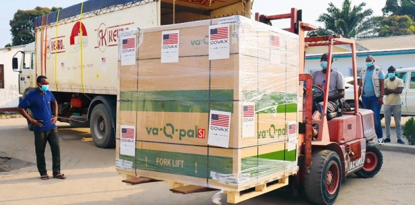 The Republic of Congo received just over 300,000 doses of the COVID vaccines through the COVAX Facility in August 2021. — courtesy UNICEF/Aimable Twiringiyima