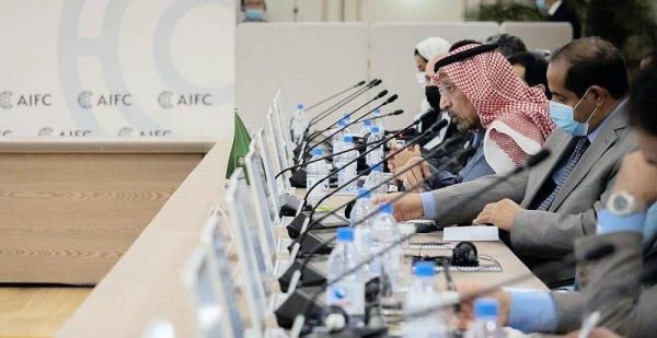 Minister of Investment Eng. Khalid Bin Abdulaziz Al-Falih headed a delegation of government officials and public sector representatives on an official visit to Kazakhstan is seen at the 5th meeting of the Saudi-Kazakhstan Joint Committee.