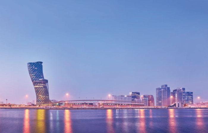 Panoramic view of Abu Dhabi coastline